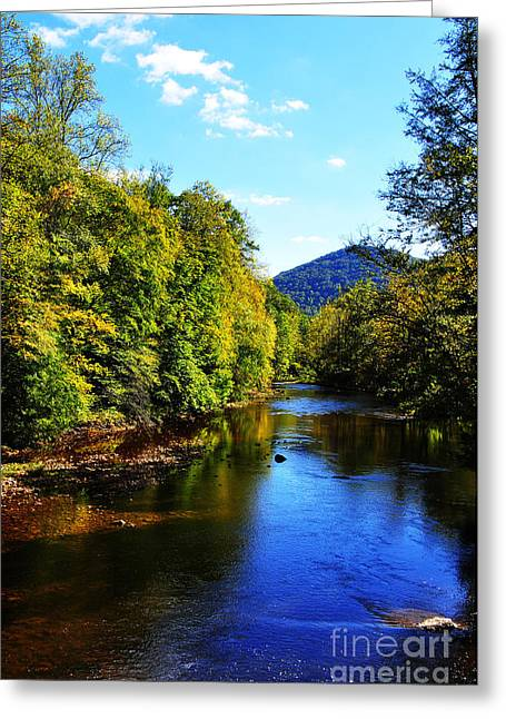 Three Forks Williams River Early Fall Greeting Card