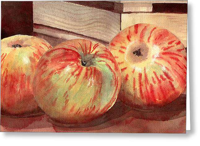Three Fuji Apples Blenda Studio Greeting Card
