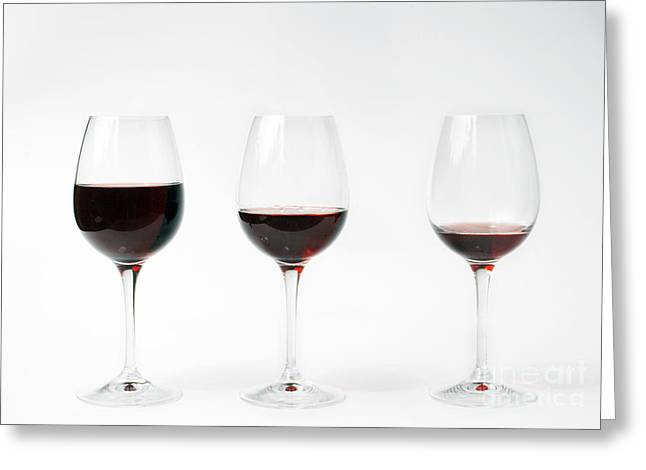 Three Glasses Of Wine  Greeting Card by Patricia Hofmeester