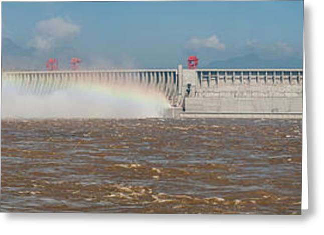 Three Gorges Dam, Yangtze River Greeting Card by Panoramic Images