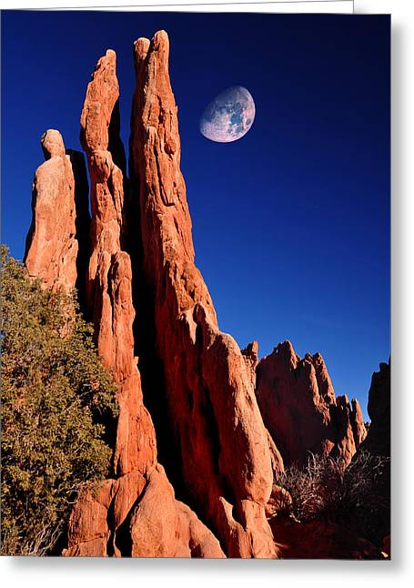 Three Graces At Garden Of The Gods Greeting Card