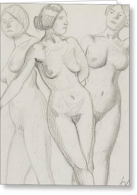Three Graces Study  Greeting Card