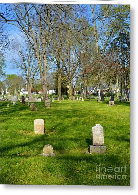 Three Gravestones Greeting Card by Alys Caviness-Gober