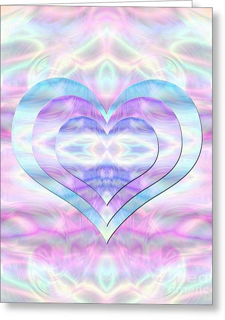 Three Hearts As One Greeting Card