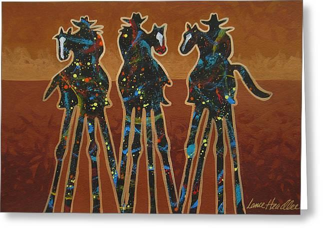 Three In Brown Greeting Card