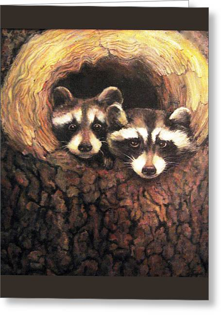 Three Is A Crowd Greeting Card