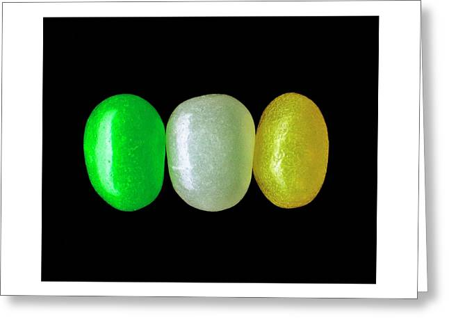 Three Jelly Beans Greeting Card