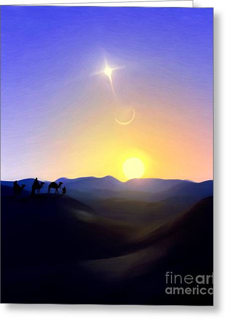 Three Kings Comet Greeting Card