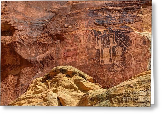 Three Kings Petroglyph - Mcconkie Ranch - Utah Greeting Card