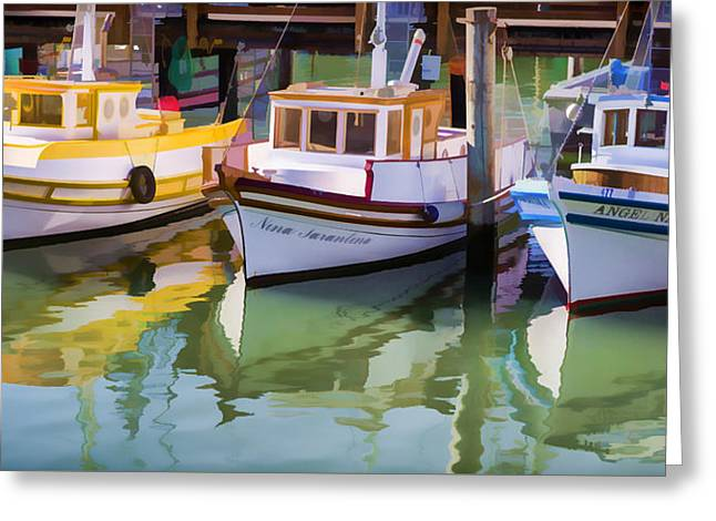 Three Little Boats Greeting Card