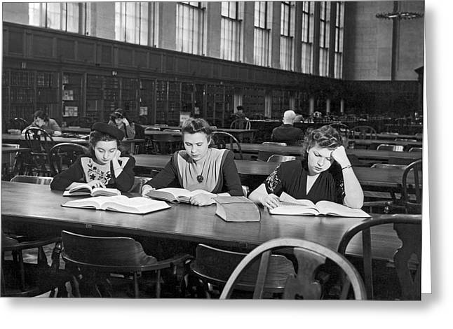 Three Moscow University Foreign Exchange Students At Columbia Un Greeting Card