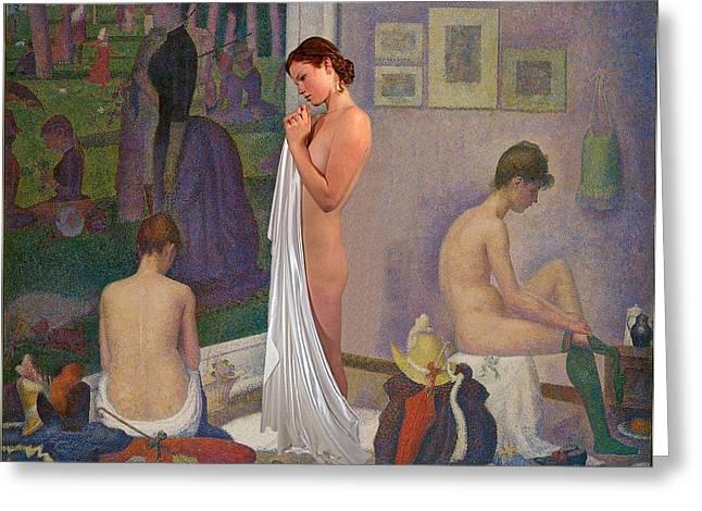 Three Muses Greeting Card