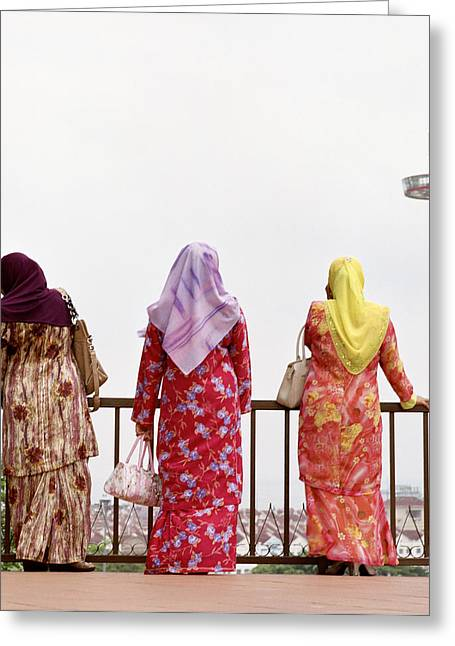 Three Muslim Women Greeting Card