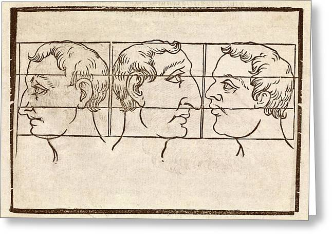 Three Nose Types Greeting Card by Middle Temple Library