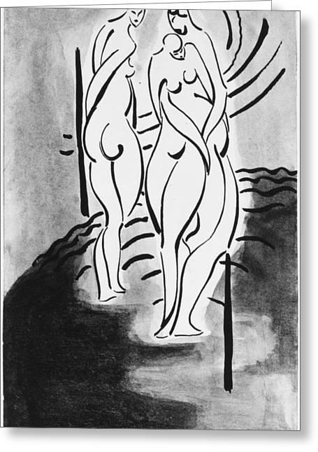 Three Nudes Greeting Card