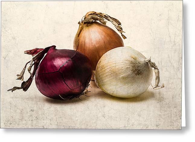 Three Onions - 1 Greeting Card