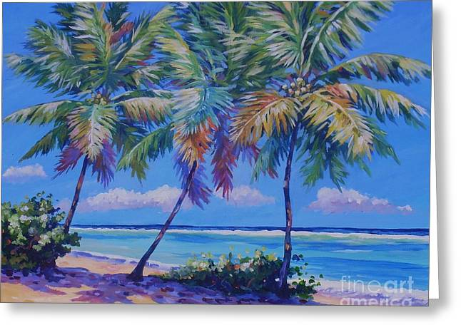 Three Palms - East End  1620 Greeting Card