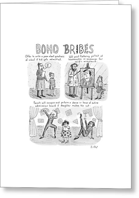 Three Panel Cartoon About What Boho Parents Greeting Card by Roz Chast