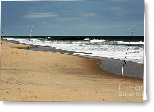 Three Poles At Asbury Greeting Card by John Rizzuto