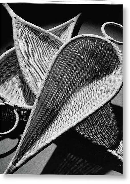 Three Reed Baskets Greeting Card