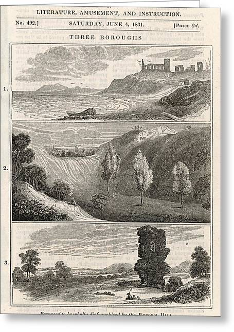 Three Rotten Boroughs -  1 Greeting Card by Mary Evans Picture Library