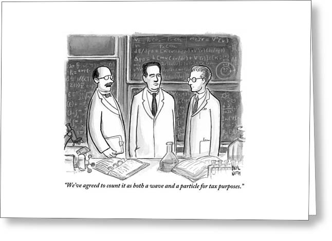 Three Scientists In A Lab Greeting Card