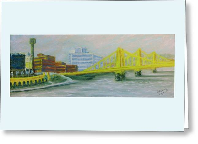 Three Sisters At Pnc Park Greeting Card by Joann Renner
