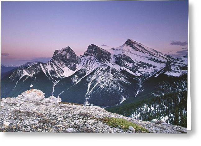 Three Sisters At Twilight Greeting Card by Richard Berry