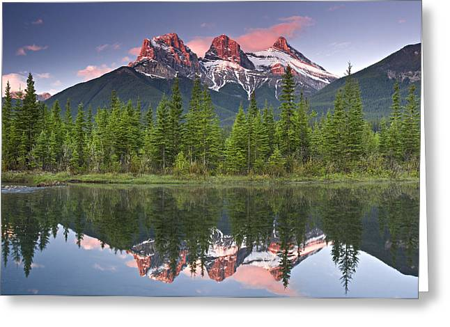 Three Sisters Reflection Greeting Card by Richard Berry