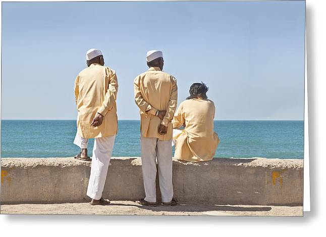 Three Stooges Waiting Time Pass Greeting Card by Kantilal Patel