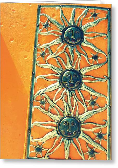 Three Suns Greeting Card