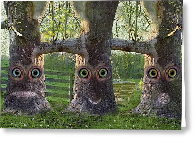 Three Trees Greeting Card by Betsy Knapp