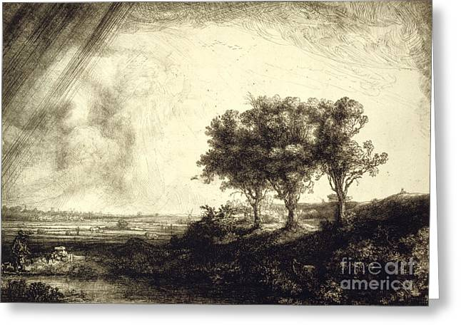 Three Trees - Holland 1643 Greeting Card by Padre Art