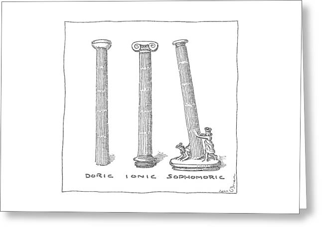 Three Types Of Columns Greeting Card