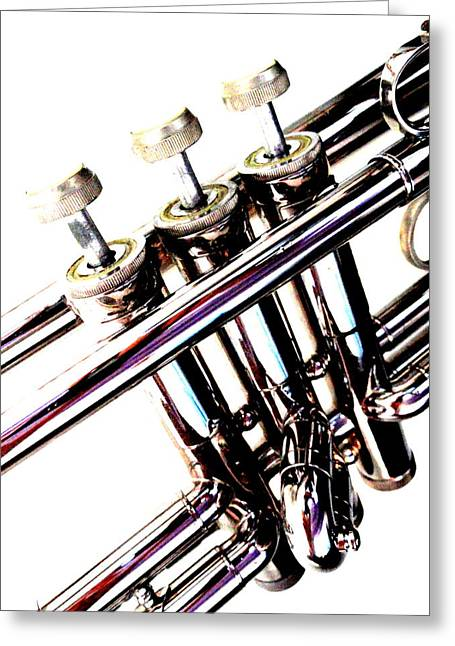 Greeting Card featuring the photograph Three Valves by Mary Beth Landis