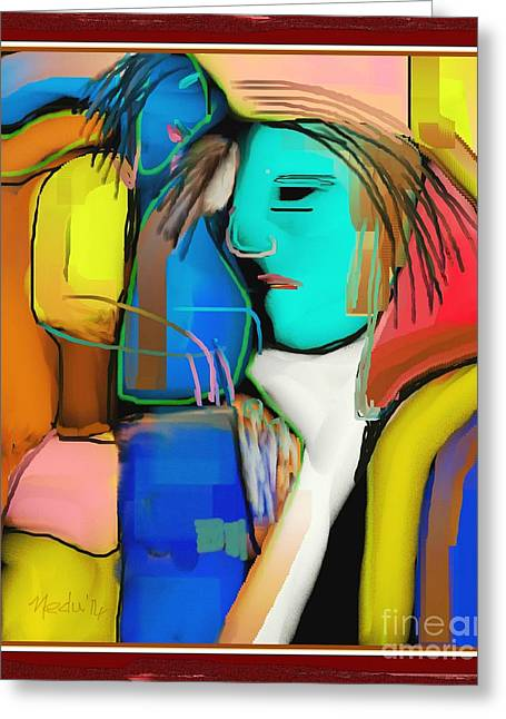 Three Women Conversing Greeting Card by Nedunseralathan R