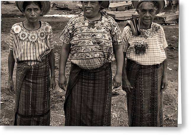 Three Women In Atitlan Greeting Card by RicardMN Photography