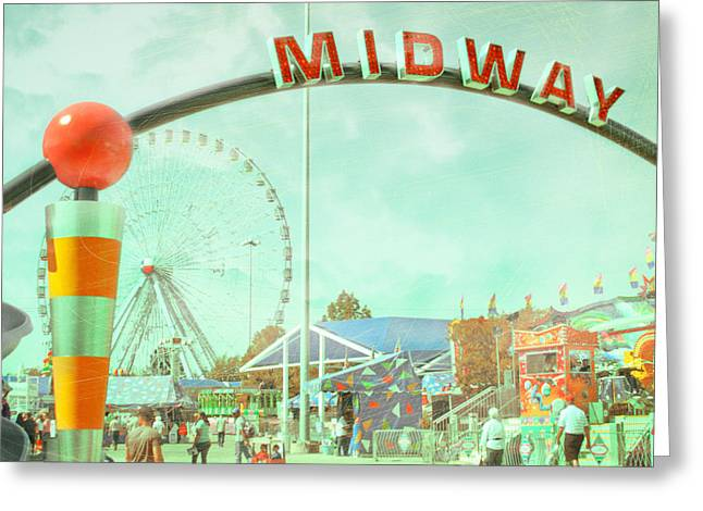 Thrills Of The Midway Greeting Card