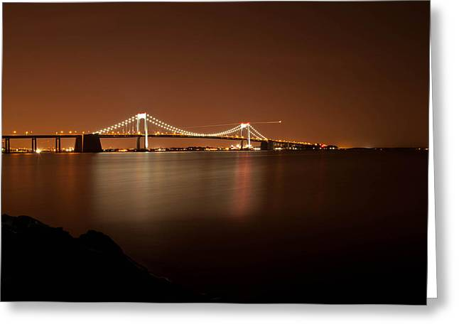 Throggs Neck Bridge Greeting Card by Robert Martinez