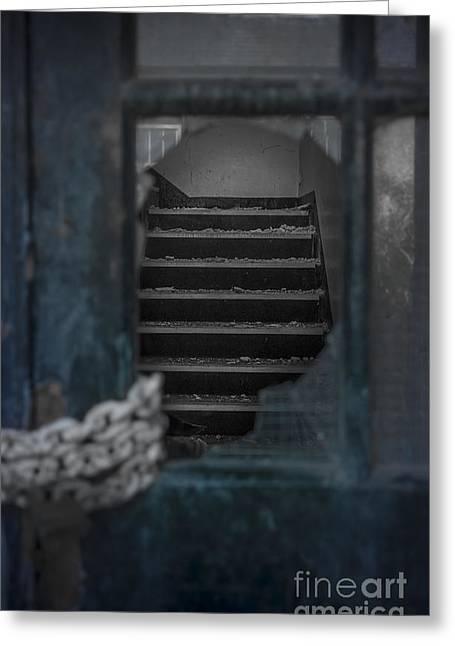 Through A Broken Glass Greeting Card by Svetlana Sewell