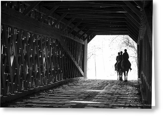 Greeting Card featuring the photograph Through A Covered Bridge by Phil Abrams