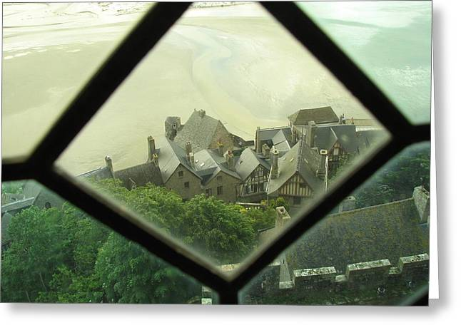 Through A Window To The Past Greeting Card by Mary Ellen Mueller Legault