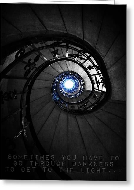 Through Darkness To Light... Greeting Card by Marianna Mills