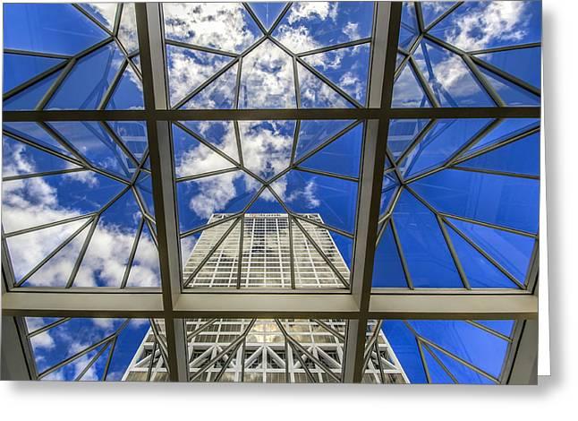 Through The Atrium Greeting Card by Anna-Lee Cappaert