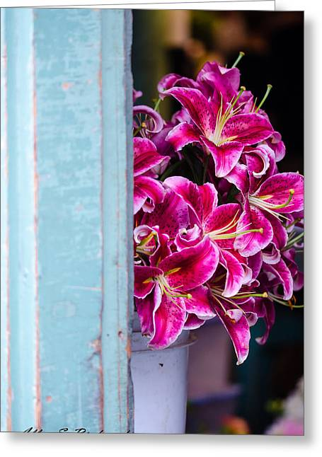 Greeting Card featuring the photograph Through The Back Door by Allen Biedrzycki
