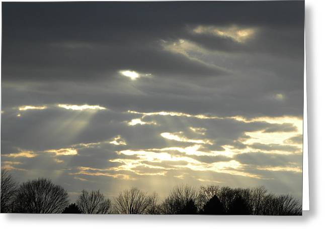 Through The Clouds Greeting Card by Cim Paddock