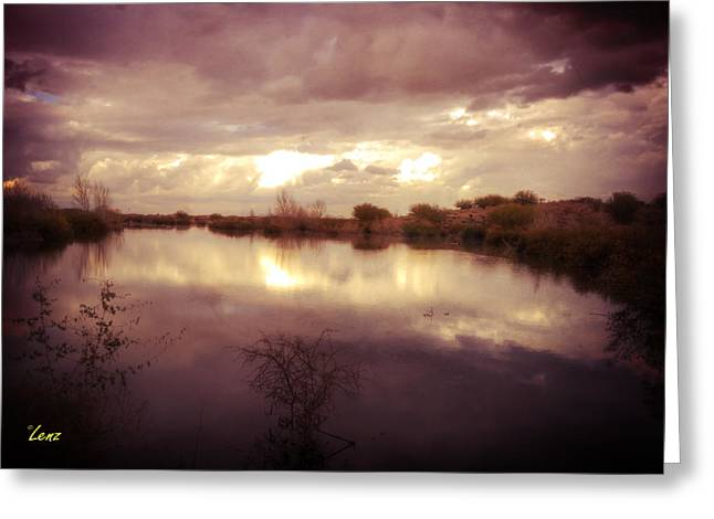 Through The Clouds Greeting Card by George Lenz