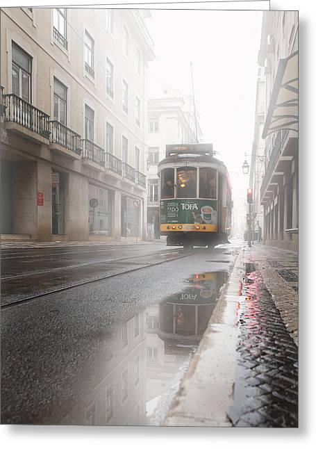 Through The Fog Greeting Card by Jorge Maia