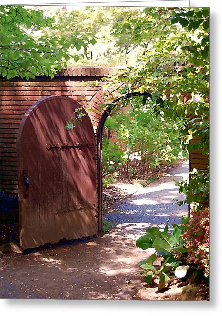 Through The Garden Gate Greeting Card