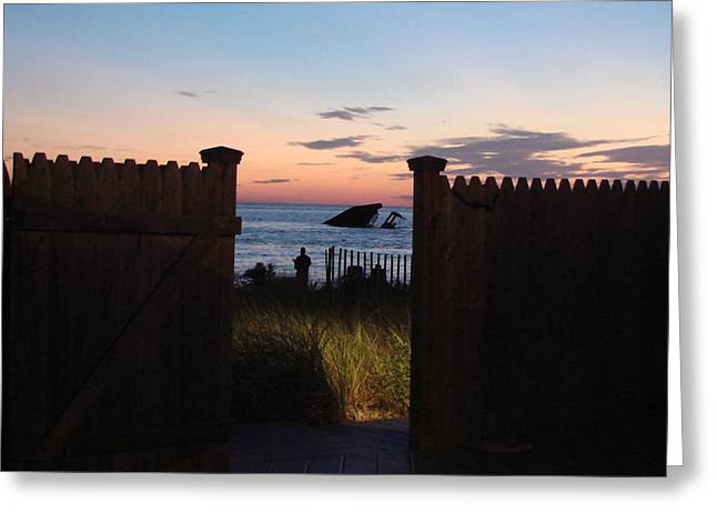 Through The Gate Greeting Card by Brenda Conrad